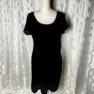 Isaac Mizrahi Women Black 2XL Pullover short sleev